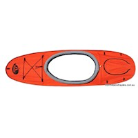 Single Deck Conversion for AdvancedFrame Kayak
