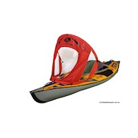 RapidUp Portable Kayak Sail w/ Clear Windows in Red