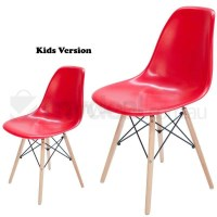 Kids Replica Eames DSW Dining Chair in Bright Red