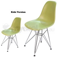 Kids Replica Eames DSR Dining Chair in Green