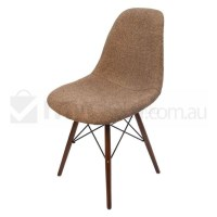 Replica Eames DSW Dining Chair in Brown and Walnut