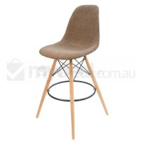 Eames Inspired DSW Bar Stool in Brown and Natural