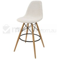 Eames Inspired DSW Bar Stool in Ivory and Natural