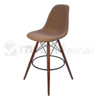 Eames Inspired DSW Bar Stool in Brown and Walnut