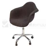 Eames Inspired DAW/DAR Office Chair in Charcoal