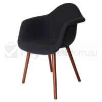 Replica Eames DAW Hal Chair in Charcoal and Walnut