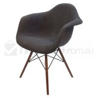 Replica Eames DAW Dining Chair in Charcoal & Walnut