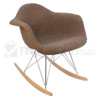 Replica Eames RAR Rocking Chair in Brown Fabric