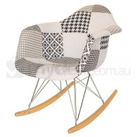 Replica Eames RAR Rocking Chair in Patchwork Ver 3