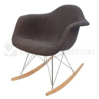 Replica Eames RAR Rocking Chair in Charcoal Fabric