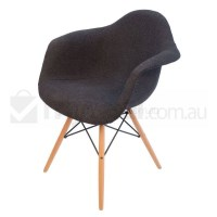 Replica Eames DAW Dining Chair - Charcoal & Natural