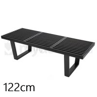 Replica George Nelson Platform Bench in Black 122cm