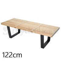 Replica George Nelson Platform Bench Natural 122cm