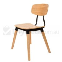 Replica Sean Dix Dining Chair in Natural and Black
