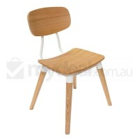 Replica Sean Dix Dining Chair in Natural and White