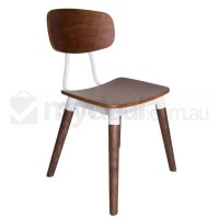 Replica Sean Dix Dining Chair in Walnut and White