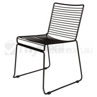 Replica Xavier Bend Wire Dining Chair in Black