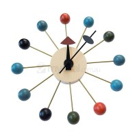 Replica George Nelson Ball Wall Clock - Multicolour