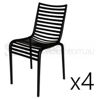 4x Replica Philippe Starck Pip-E Dining Chair Black