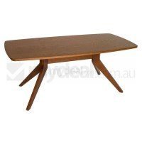 Skye MDF and Ash Wood Dining Table in Walnut 180cm