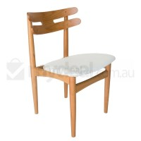 Replica HW Klein Dining Chair in White PU Leather