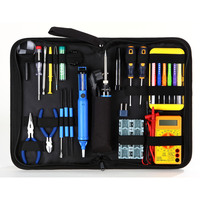 Electronics Starter Hand Tools Kit with Fold-Up Bag